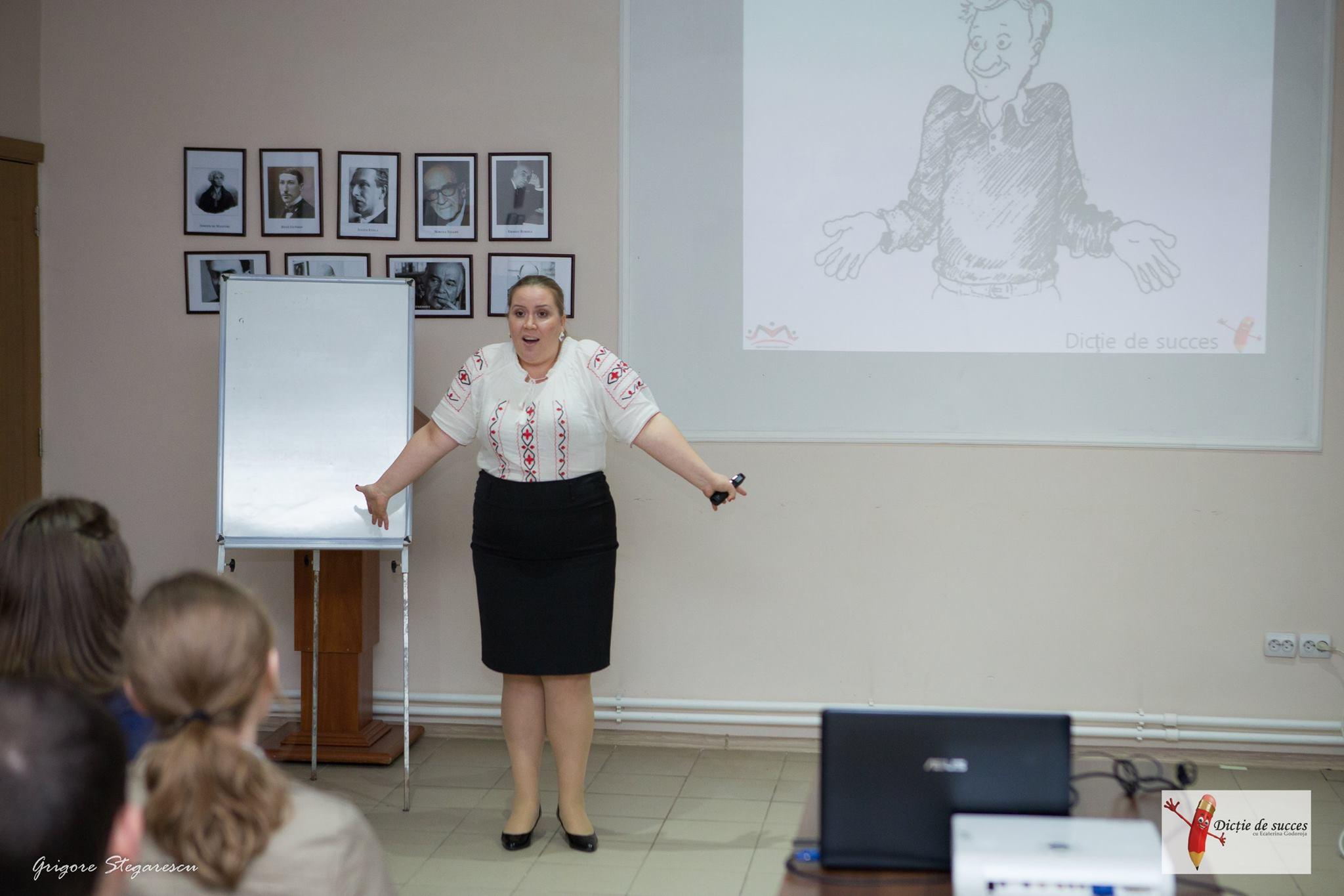 lecție de expresivitate și vorbit în public, Ecaterina Godoroja